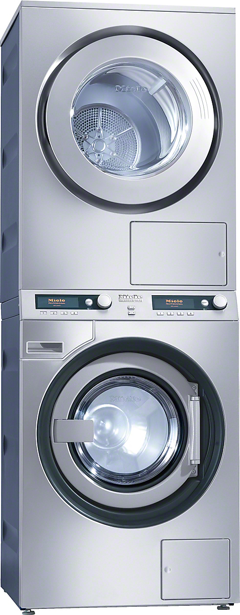 Pwt 6089 El Lp Os Washer Dryer Stack Stainless Steel